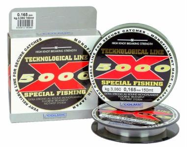 Леска COLMIC X-5000 мт.150 - 0.225 - 7,50кг