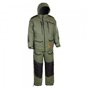 Зимний костюм HUNTSMAN Siberia, тк. Taslan Хаки/черный 44-46