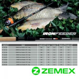 Удилище фидерное ZEMEX IRON Medium Feeder 12 ft до 70,0 гр.