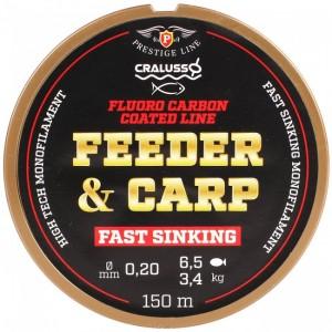Леска CRALUSSO Feeder & Carp fluro carbon coat150m- 0,18мм