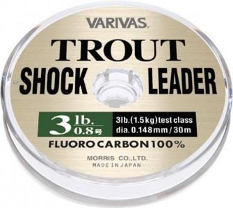 Леска VARIVAS Trout Shock Leader Fluro 30 m, 2.5 10lb