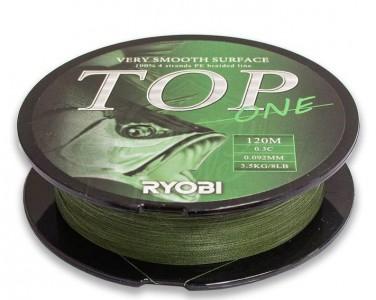 Леска плетёная RYOBI PE TOP 4* 120m d-0.148 #6.0kg Dark green