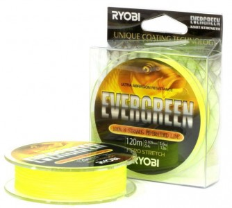 Леска плетёная RYOBI PE EVERGREEN 8* 120m d-0.331 #20kg Yellow