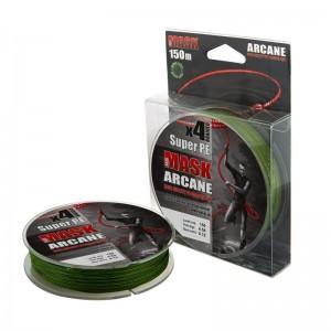 Леска плетёная MASK ARCANE PE х4 150m d-0,14 dark green