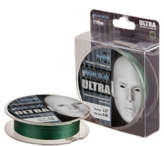 Леска плетёная MASK ULTRA x4 110m d-0,06 dark green