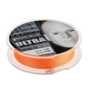 Леска плетёная MASK ULTRA x4 110m d-0,14 orange