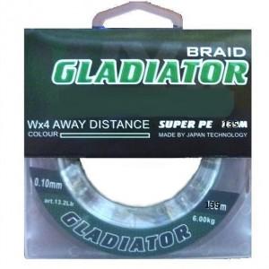 Леска плетёная Gladiator PE х4 135m d-0,08 dark green