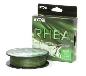 Леска плетёная RYOBI PE RHEA 8* 120m Dark green