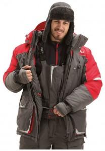 Зимний костюм FISHERMAN Nova Tour Буран V3 серый/красный 2XL