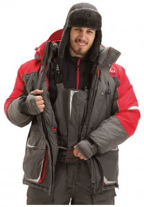 Зимний костюм FISHERMAN Nova Tour Буран V3 серый/красный 3XL