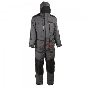 Зимний костюм HUNTSMAN Siberia, тк. Taslan Серый/черный 44-46