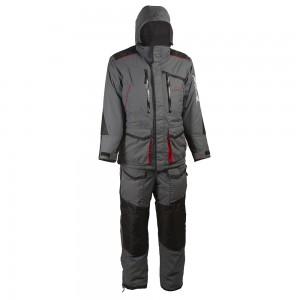 Зимний костюм HUNTSMAN Siberia, тк. Taslan Серый/черный 56-58