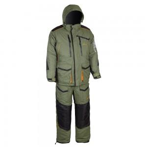 Зимний костюм HUNTSMAN Siberia, тк. Taslan Хаки/черный 48-50