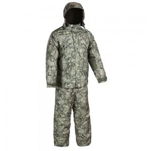 Зимний костюм HUNTSMAN Амур со снегозащитными гетрами тк. Taslan графика (болото)