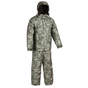 Зимний костюм HUNTSMAN Амур со снегозащитными гетрами тк. Taslan графика (болото) 56-58