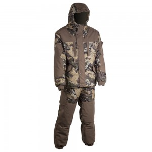 Зимний костюм HUNTSMAN Ангара, тк. Алова, со снегозащитными гетрами цв. эфа/хаки 56-58