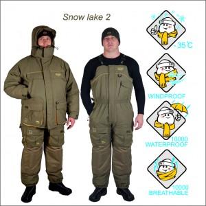 Костюм рыболовный зимний Canadian Camper SNOW LAKE (куртка + брюки) (цвет stone)