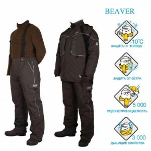 Костюм рыболовный зимний Canadian Camper BEAVER (цвет grey, XXL)