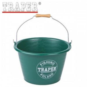 Ведро TRAPER для прикормки 17 л зеленое