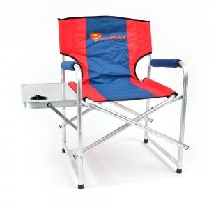 Кресло складное SuperMax алюминий со столиком с подстаканником