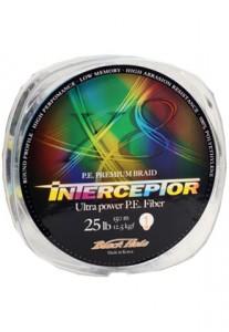Леска плетеная Black Hole INTERCEPTOR Multicolor 150м 0,18мм (№1) - 8 нитей In-18