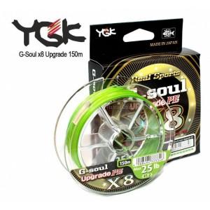Шнур плетеный YGK G-Soul x8 Upgrade 150m (#1.5/max 30 lb)