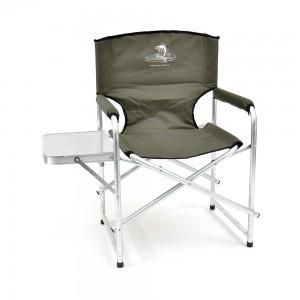 Кресло складное Кедр, алюминий со столиком